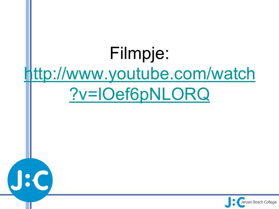 Filmpje: http://www.youtube.com/watch ?v=IOef6pNLORQ http://www.youtube.com/watch ?v=IOef6pNLORQ