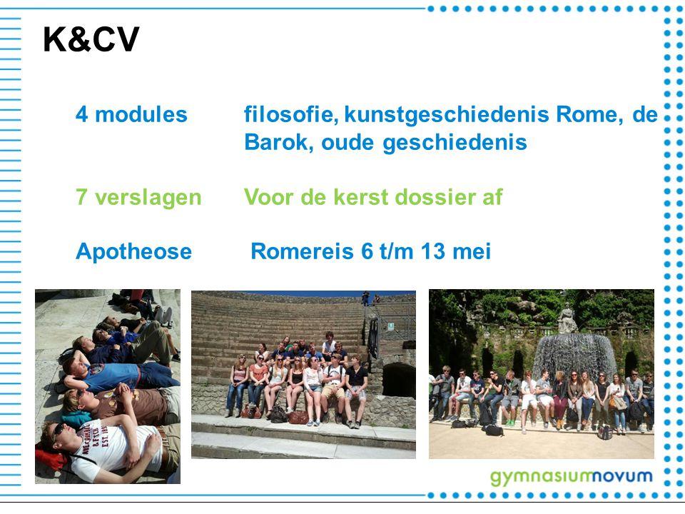 K&CV 4 modules filosofie, kunstgeschiedenis Rome, de Barok, oude geschiedenis 7 verslagenVoor de kerst dossier af Apotheose Romereis 6 t/m 13 mei