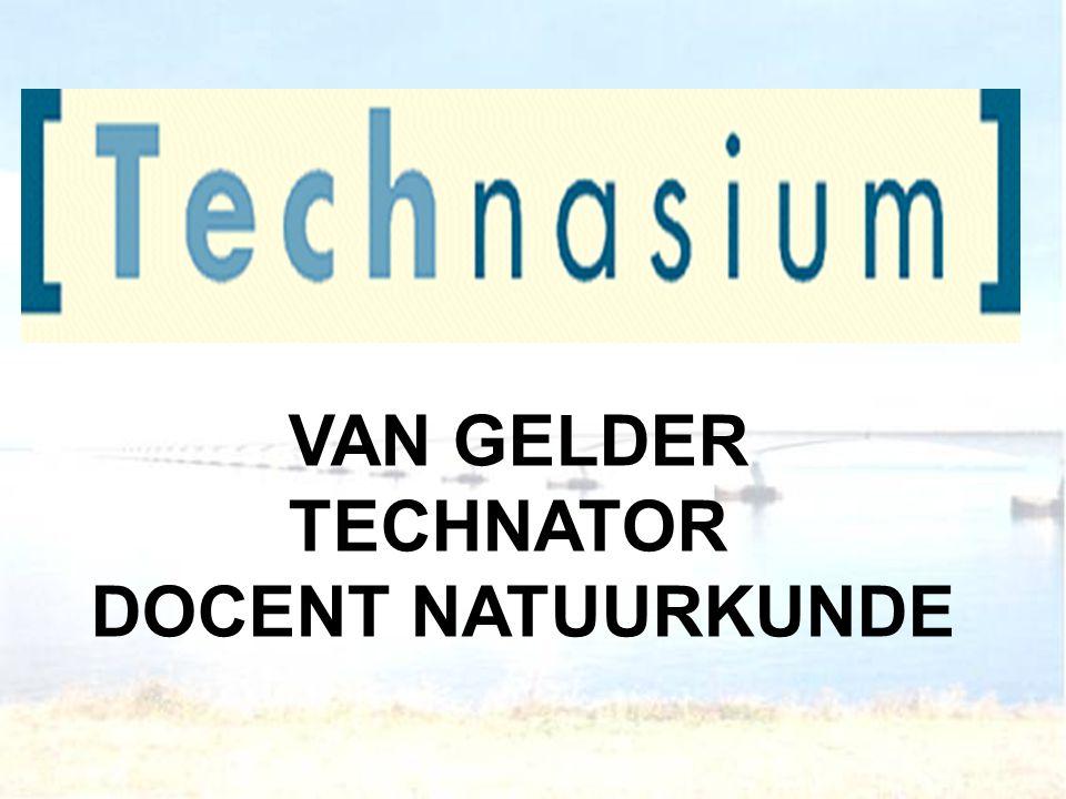 VAN GELDER TECHNATOR DOCENT NATUURKUNDE