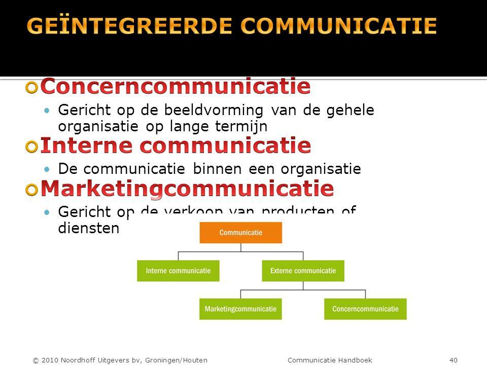 © 2010 Noordhoff Uitgevers bv, Groningen/Houten Communicatie Handboek 40