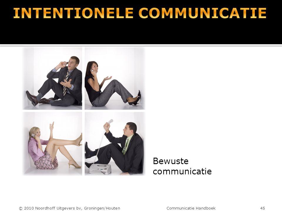 Bewuste communicatie © 2010 Noordhoff Uitgevers bv, Groningen/Houten Communicatie Handboek 45