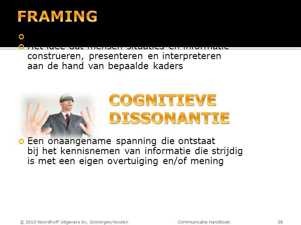 © 2010 Noordhoff Uitgevers bv, Groningen/Houten Communicatie Handboek 58