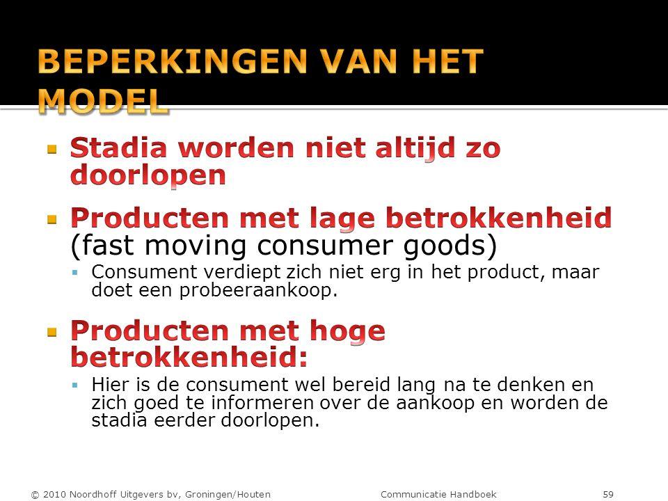 © 2010 Noordhoff Uitgevers bv, Groningen/Houten Communicatie Handboek 59