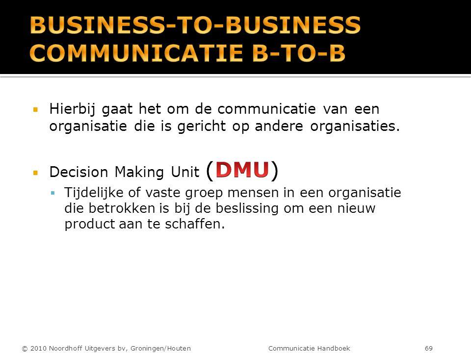 © 2010 Noordhoff Uitgevers bv, Groningen/Houten Communicatie Handboek 69