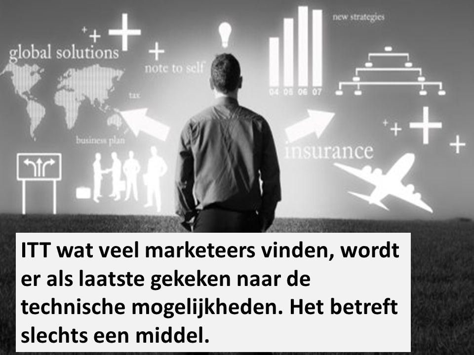 ITT wat veel marketeers vinden, wordt er als laatste gekeken naar de technische mogelijkheden. Het betreft slechts een middel.