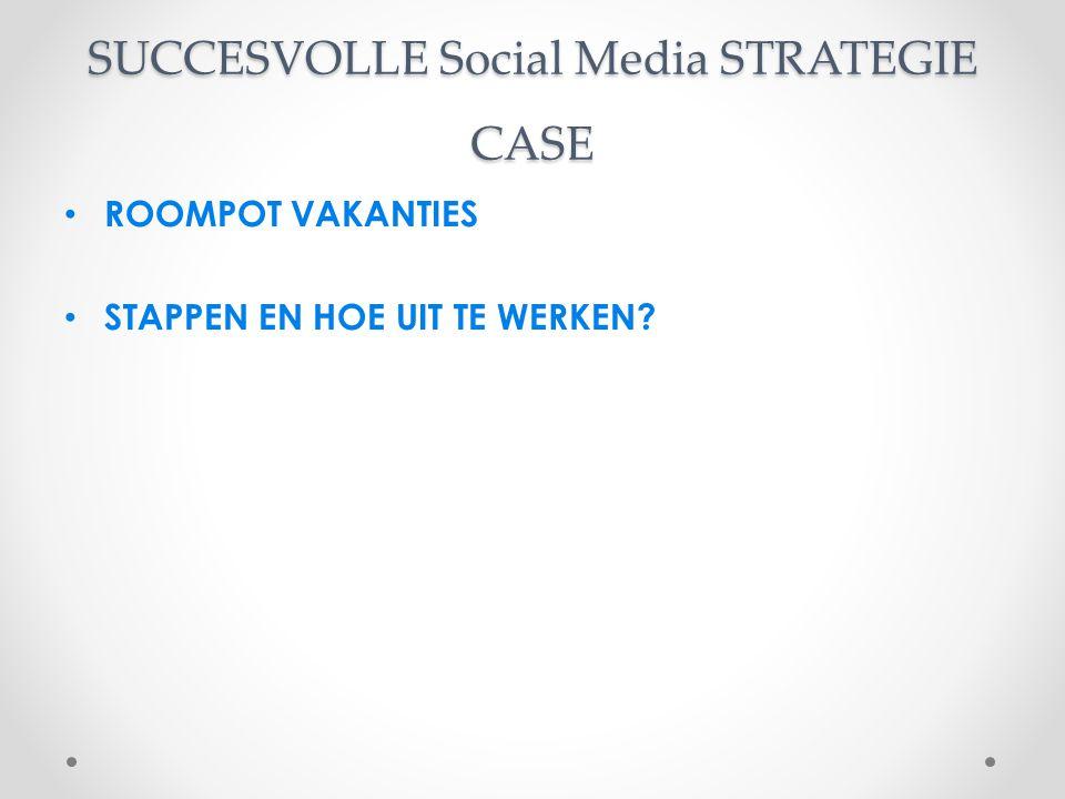 SUCCESVOLLE Social Media STRATEGIE CASE ROOMPOT VAKANTIES STAPPEN EN HOE UIT TE WERKEN?