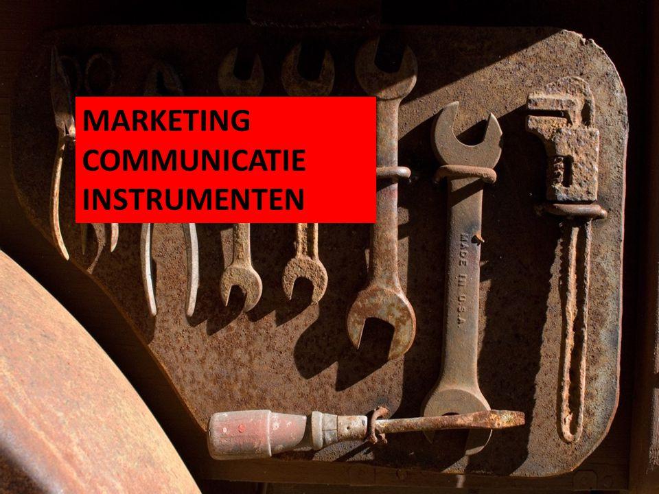 MARKETING COMMUNICATIE INSTRUMENTEN