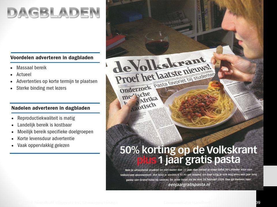 © 2010 Noordhoff Uitgevers bv, Groningen/Houten Communicatie Handboek 39