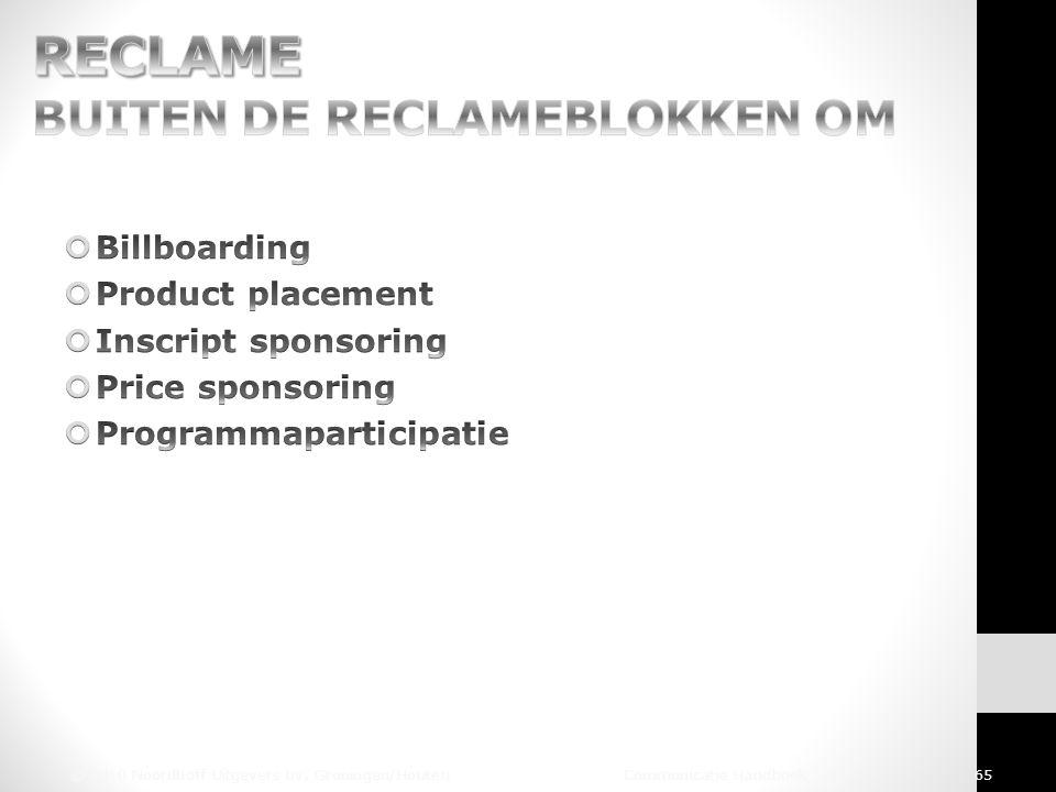 © 2010 Noordhoff Uitgevers bv, Groningen/Houten Communicatie Handboek 65