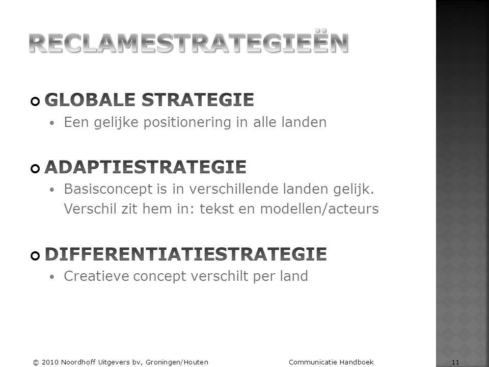 © 2010 Noordhoff Uitgevers bv, Groningen/Houten Communicatie Handboek 11