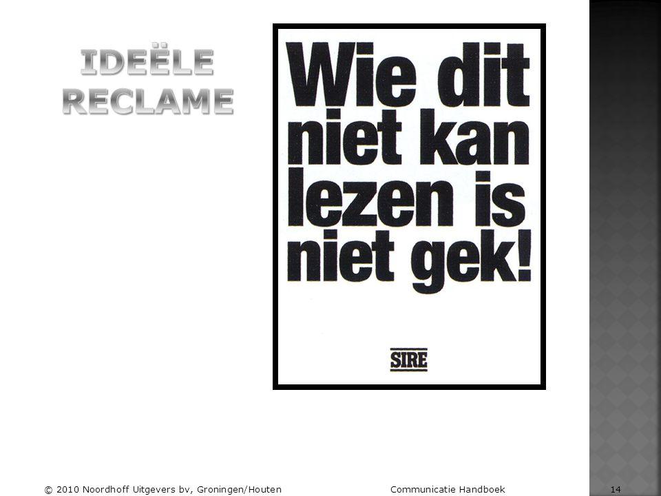 © 2010 Noordhoff Uitgevers bv, Groningen/Houten Communicatie Handboek 14