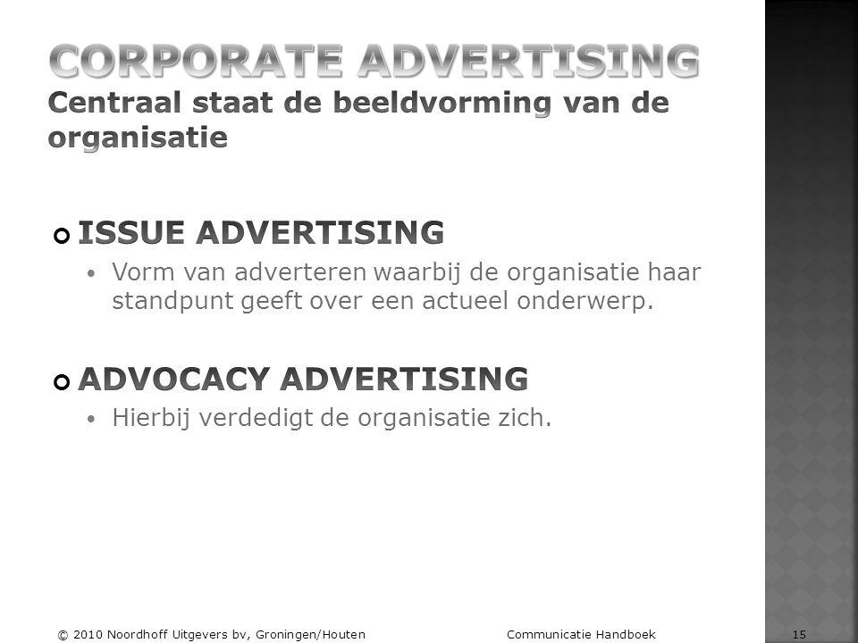 © 2010 Noordhoff Uitgevers bv, Groningen/Houten Communicatie Handboek 15