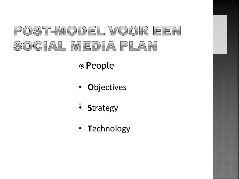  People Objectives Strategy Technology