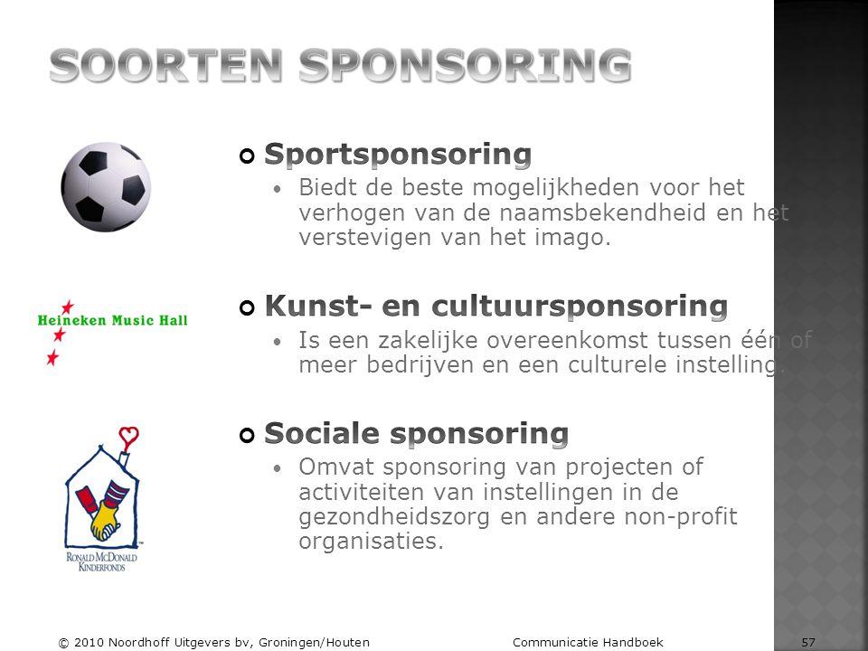 © 2010 Noordhoff Uitgevers bv, Groningen/Houten Communicatie Handboek 57