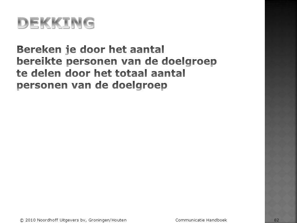 © 2010 Noordhoff Uitgevers bv, Groningen/Houten Communicatie Handboek 82