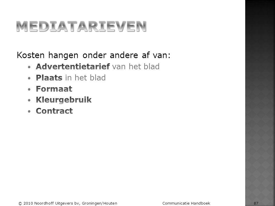 © 2010 Noordhoff Uitgevers bv, Groningen/Houten Communicatie Handboek 87