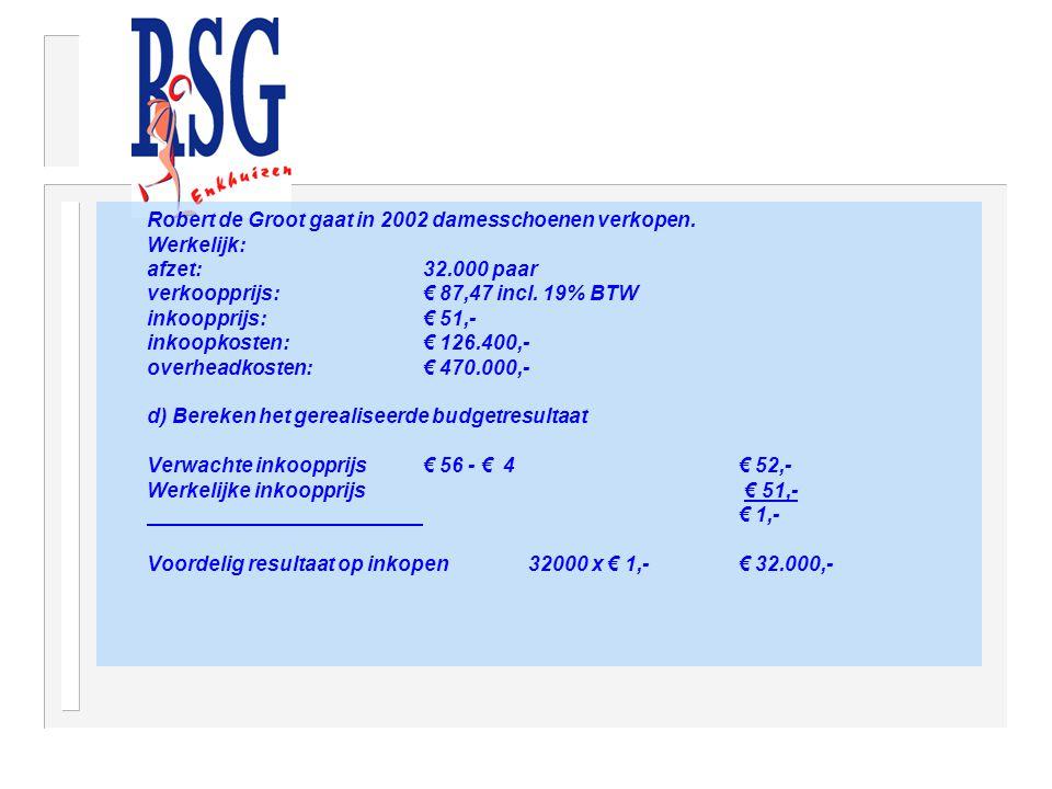 Robert de Groot gaat in 2002 damesschoenen verkopen.