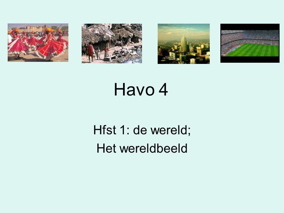 Havo 4 Hfst 1: de wereld; Het wereldbeeld