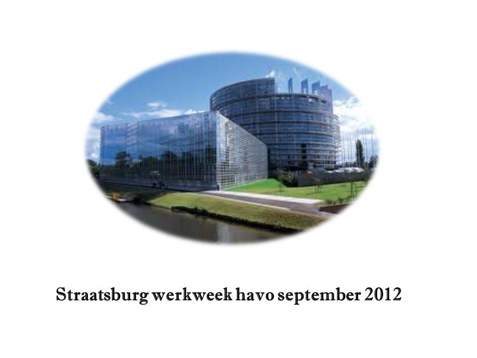 Straatsburg werkweek havo september 2012