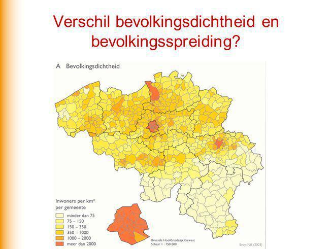 Verschil bevolkingsdichtheid en bevolkingsspreiding?