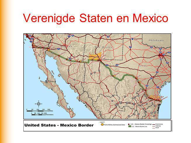 Gevolgen relatie voor grensregio a Snelle groei werkgelegenheid b Toename BNP/hoofd vooral in Mexico c Ontstaan van dubbelsteden d Ontstaan mengcultuur El Paso Ciudad Juarez http://www.youtube.com/watch?v=Ep3UbS52ui8