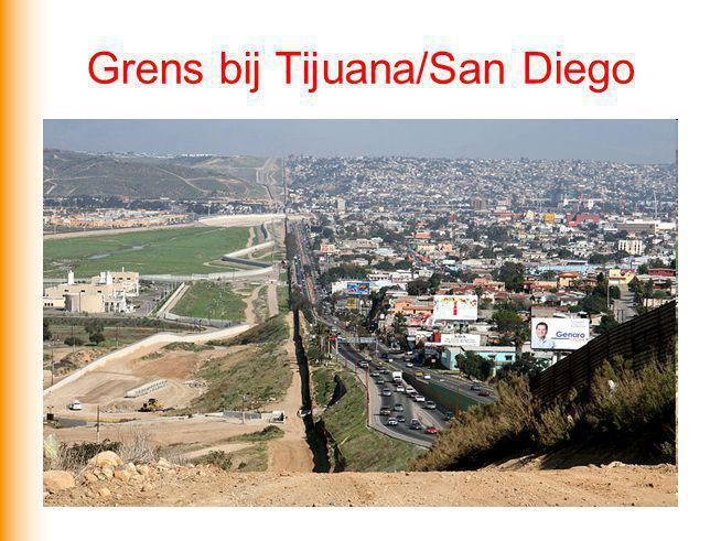 Ruimte Welke kenmerken van Mexico en de VS zorgen er voor dat mensen de grens over willen steken (ruimtelijk gedrag).