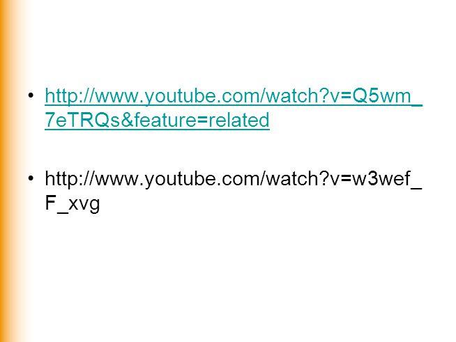 http://www.youtube.com/watch?v=Q5wm_ 7eTRQs&feature=relatedhttp://www.youtube.com/watch?v=Q5wm_ 7eTRQs&feature=related http://www.youtube.com/watch?v=