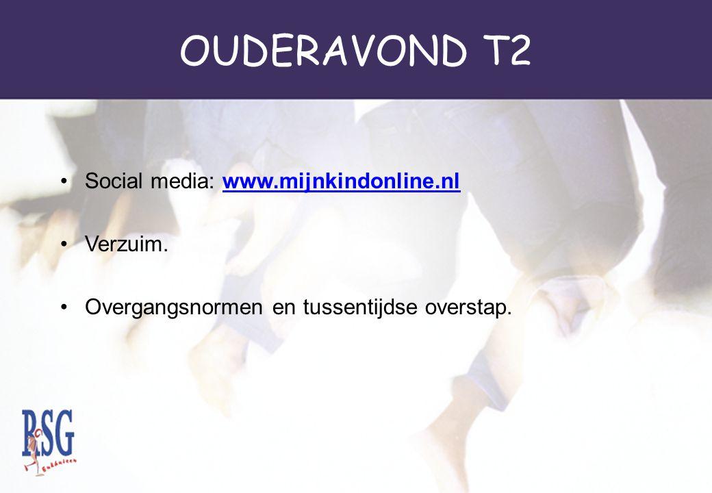 OUDERAVOND T2 Social media: www.mijnkindonline.nlwww.mijnkindonline.nl Verzuim. Overgangsnormen en tussentijdse overstap.