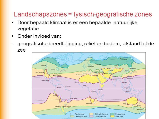 Tropische landschapszone Welke twee klimaten horen bij deze zone?