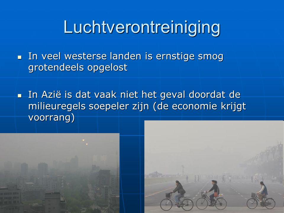 Luchtverontreiniging In veel westerse landen is ernstige smog grotendeels opgelost In veel westerse landen is ernstige smog grotendeels opgelost In Az