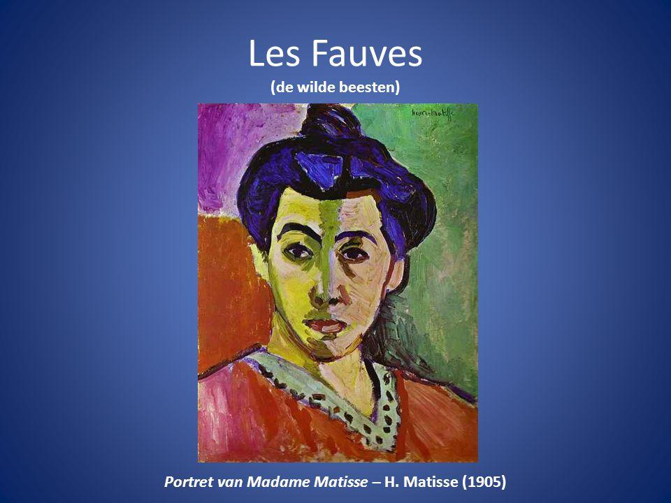 Les Fauves (de wilde beesten) Portret van Madame Matisse – H. Matisse (1905)