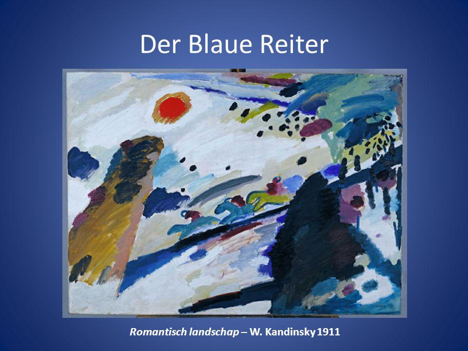 Der Blaue Reiter Romantisch landschap – W. Kandinsky 1911