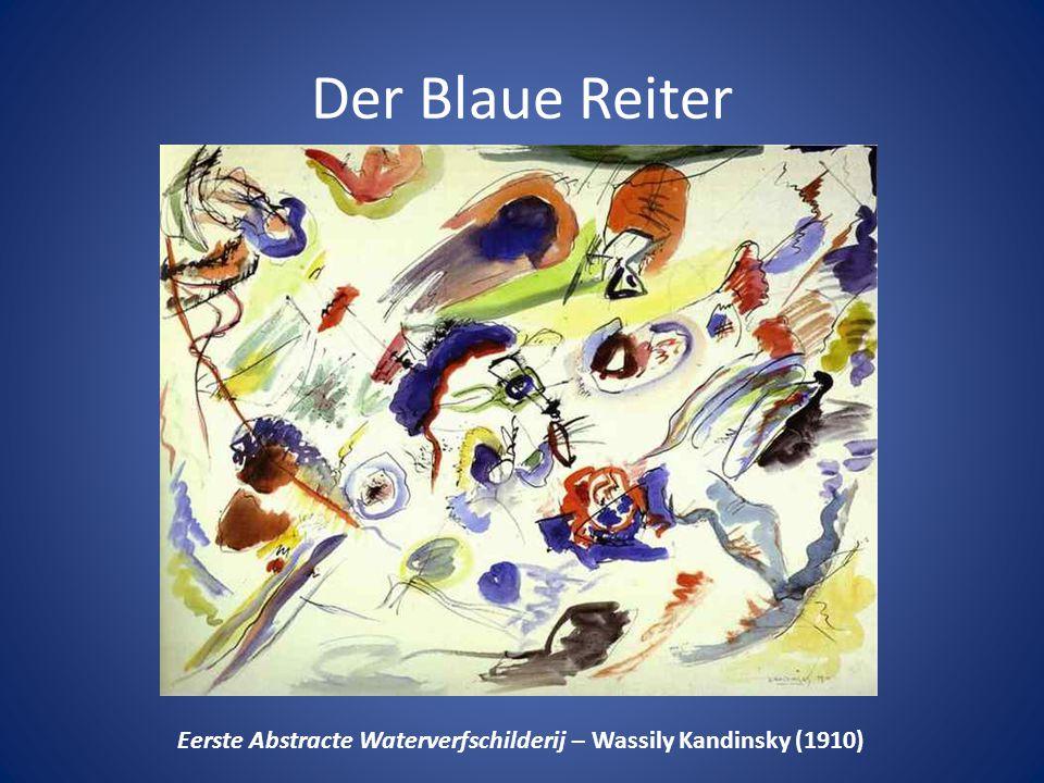 Der Blaue Reiter Eerste Abstracte Waterverfschilderij – Wassily Kandinsky (1910)