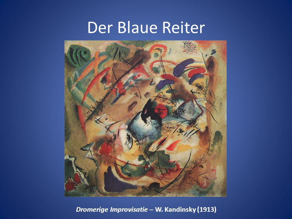Der Blaue Reiter Dromerige Improvisatie – W. Kandinsky (1913)