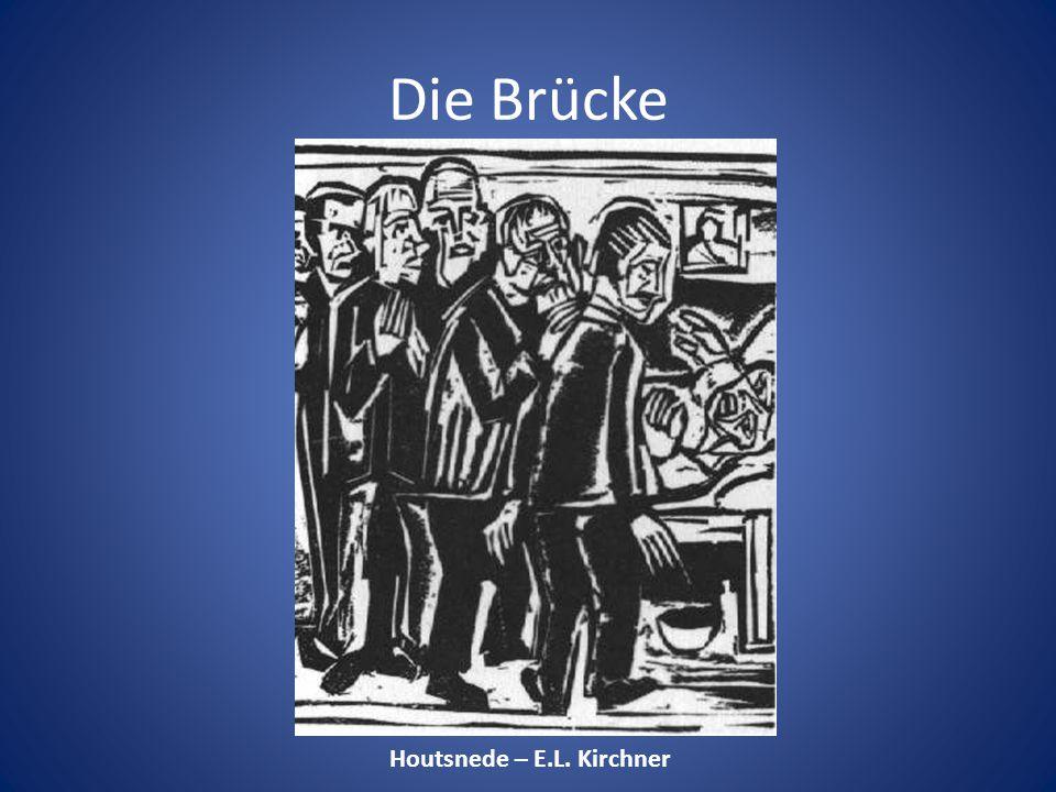 Die Brücke Houtsnede – E.L. Kirchner