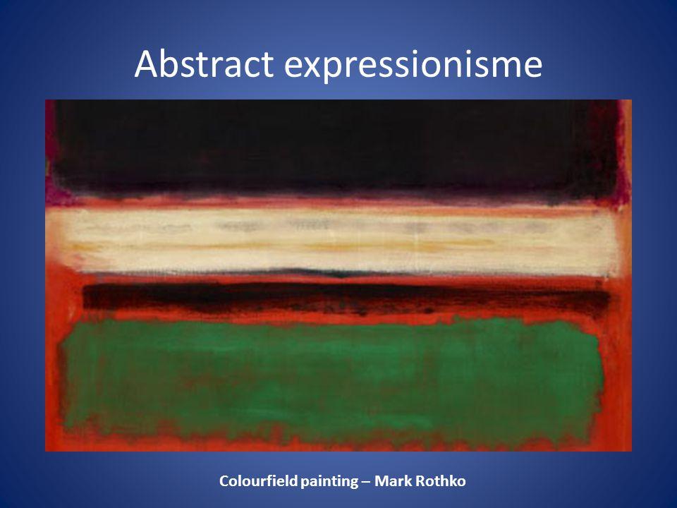 Colourfield painting – Mark Rothko