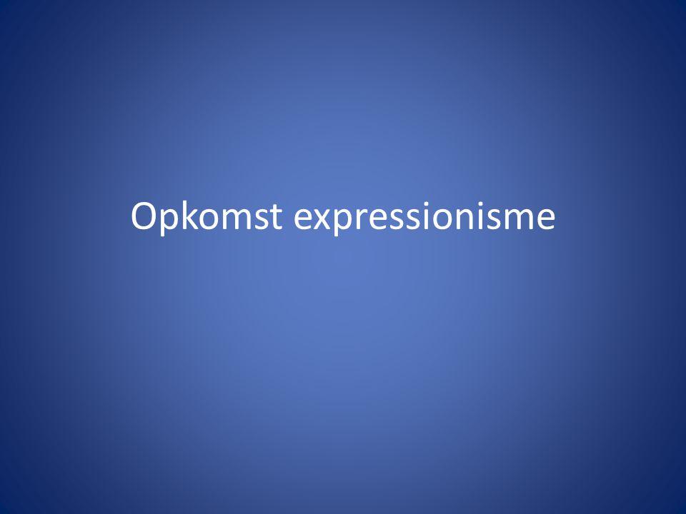 Opkomst expressionisme