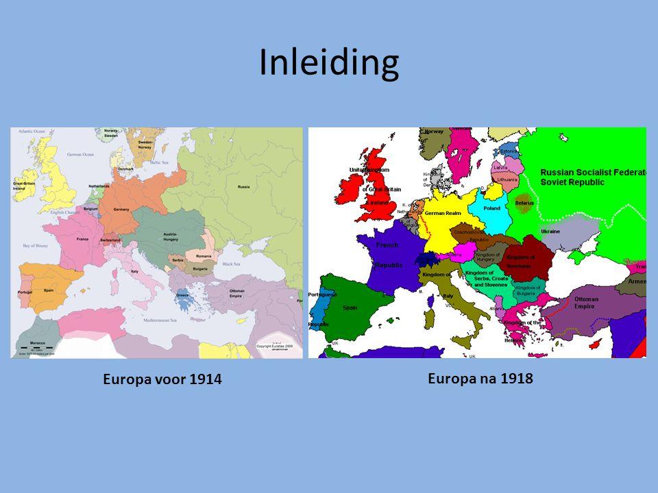 Inleiding POLITIEK rond WO I LINKS nieuwe maatschappij opkomst socialisme RECHTS oude maatschappij nationalisme oude orde