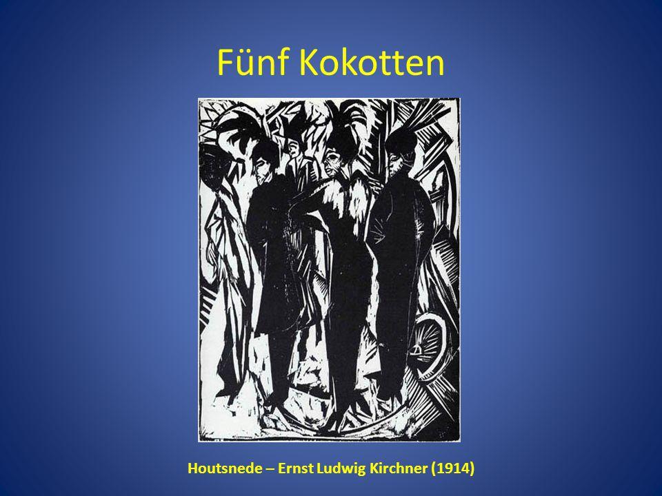 Fünf Kokotten Houtsnede – Ernst Ludwig Kirchner (1914)