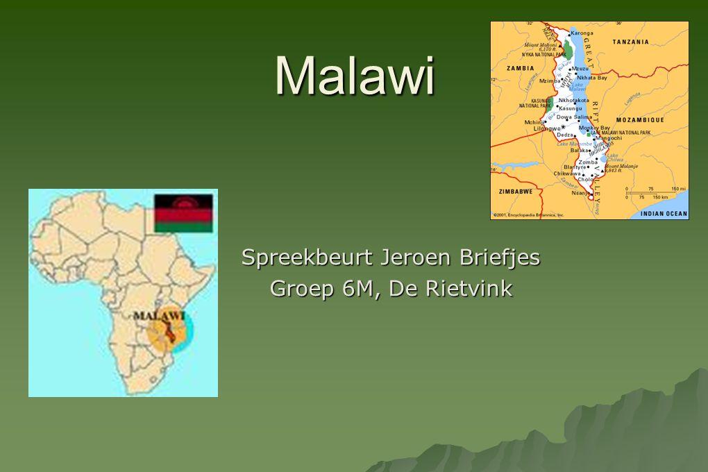 Malawi Spreekbeurt Jeroen Briefjes Groep 6M, De Rietvink