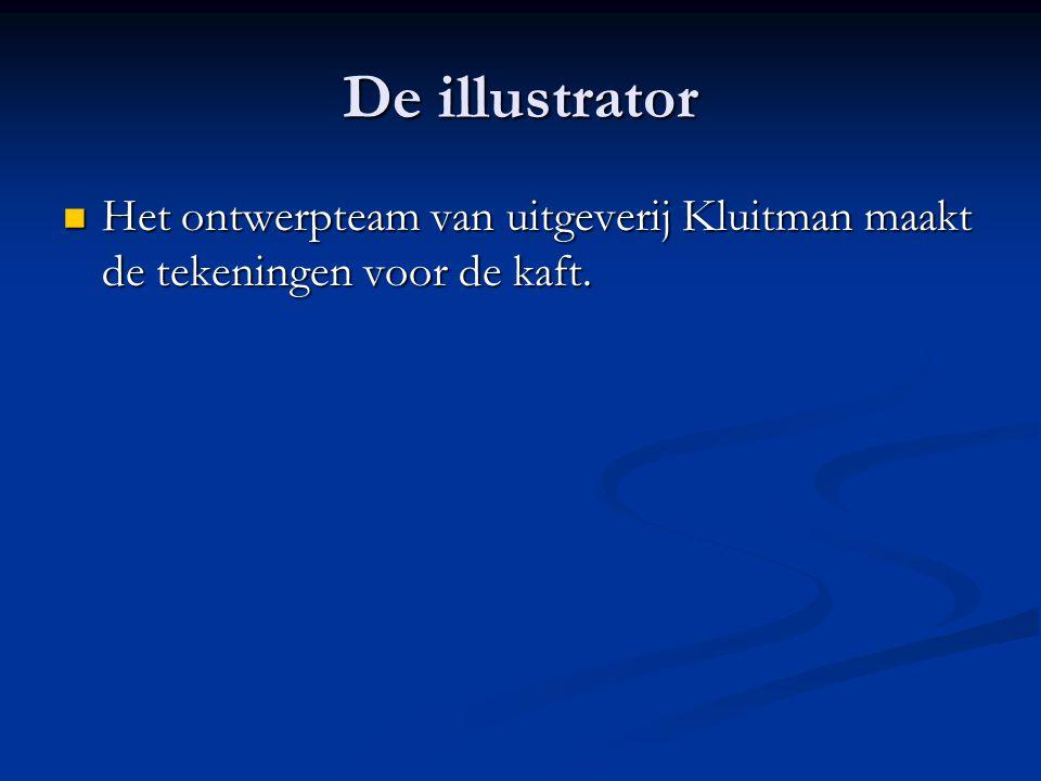 De illustrator Het ontwerpteam van uitgeverij Kluitman maakt de tekeningen voor de kaft.