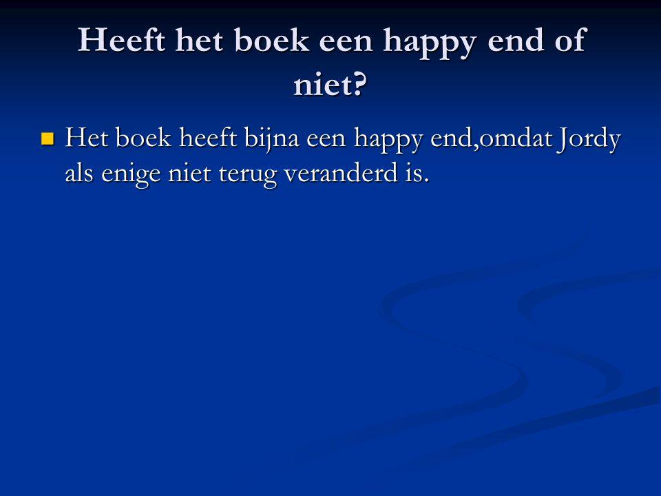Heeft het boek een happy end of niet.