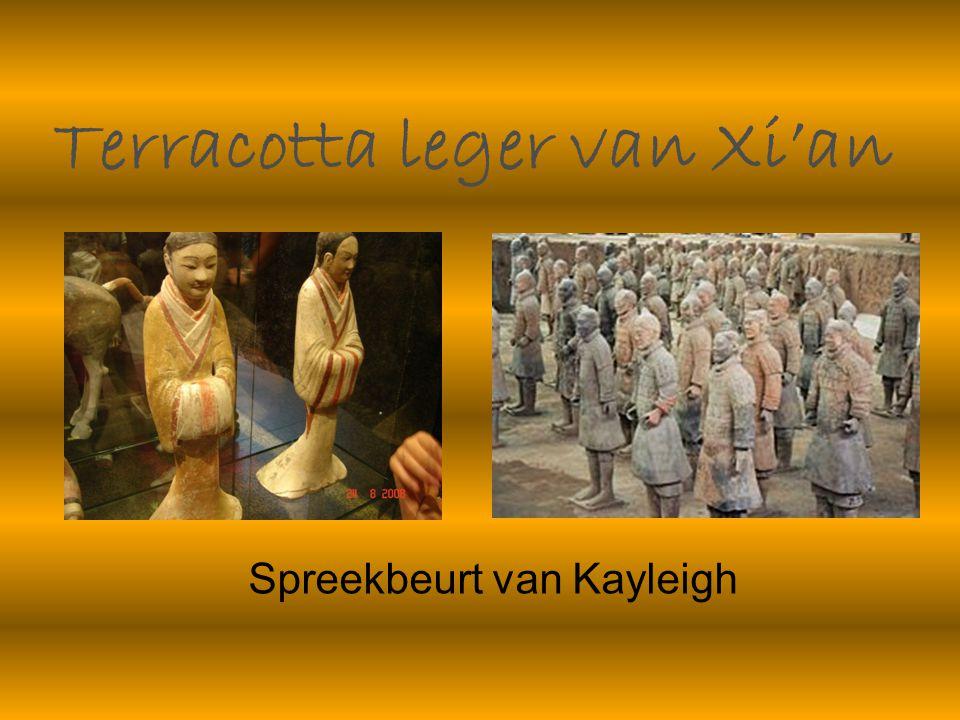 Terracotta leger van Xi'an Spreekbeurt van Kayleigh