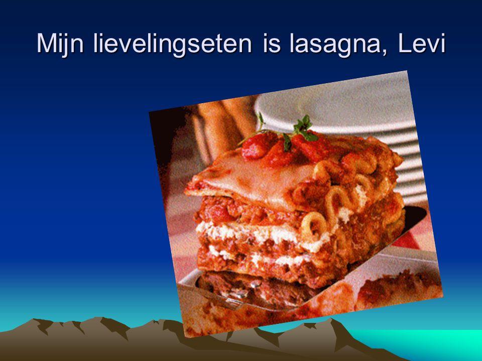 Mijn lievelingseten is lasagna, Levi