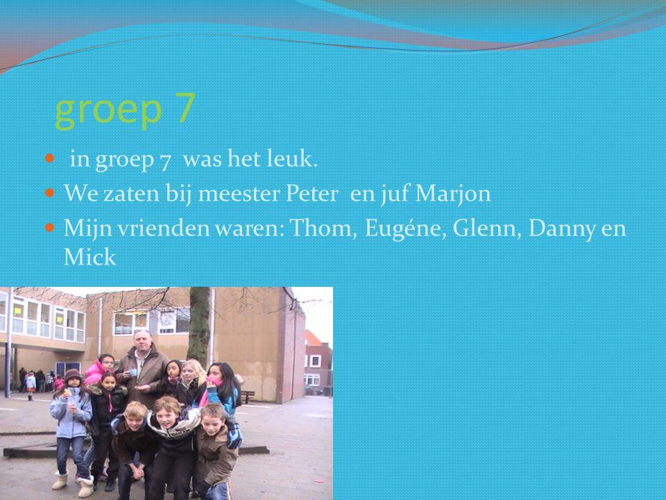 groep 6 Groep 6 was het eerste jaar van de combinatie klas.