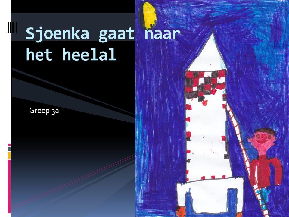 sjoenka wil naar de ruimte.hij bouwt een raket en wil naar de ruimte.