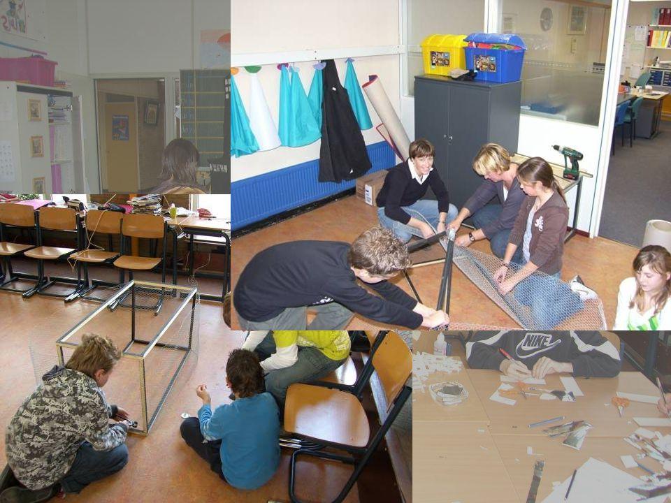 Hier zie je hoe we zijn begonnen met het maken van de papier maché