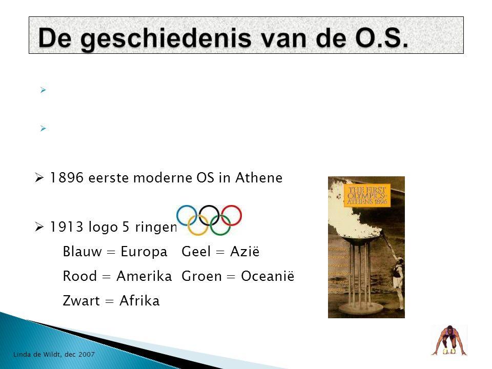  De geschiedenis van de O.S.  O.S. in Amerika  Beroemde Amerikaanse atleten  Dream Team Linda de Wildt, dec 2007
