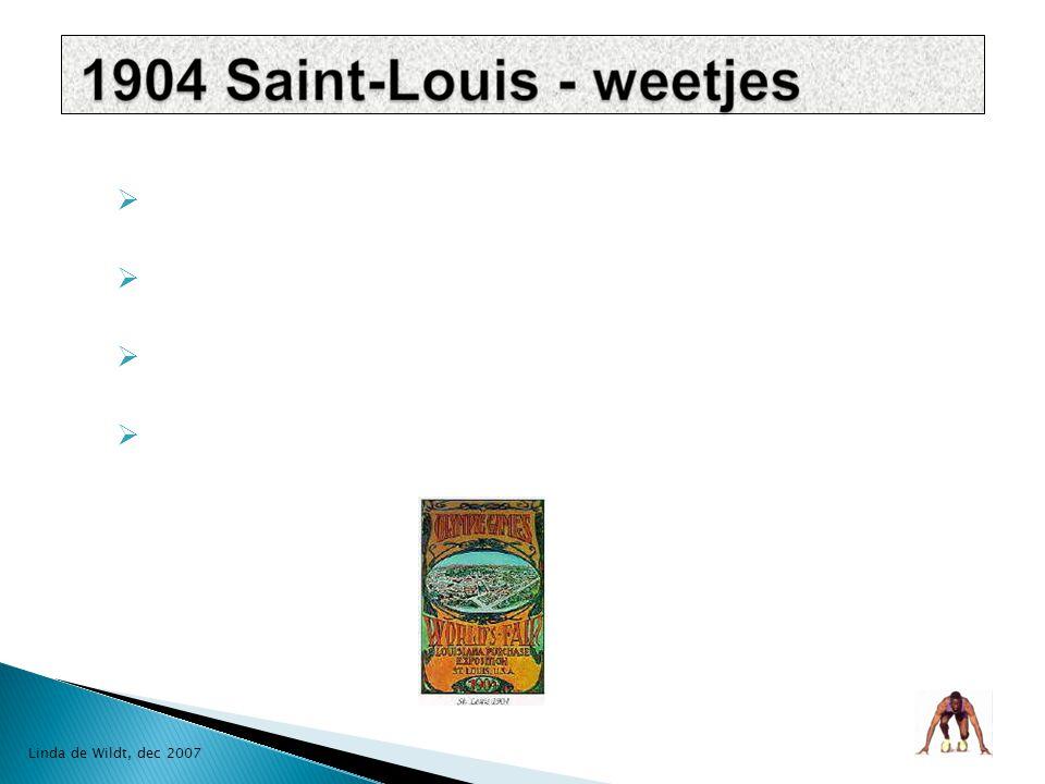  Eerste keuze Chicago  Wereld tentoonstelling - president Theodore Roosevelt  250 medailles - 209 Amerikaanse Linda de Wildt, dec 2007