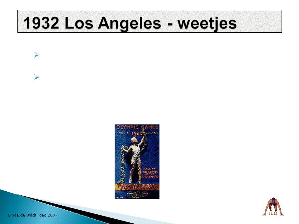  niet alles goed is goed gedaan  3.000 m hindernisloop, ronde te veel  200 m sprint, één baan niet goed gemeten, Amerikaan Ralph Metcalfe verloor  William Carr haalde goud  op 17 jaar brak hij allebei de enkels  1933 door tram aangereden gehandicapt  groot succes Linda de Wildt, dec 2007